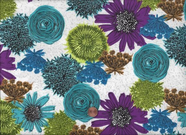 Makers Home Blüten weiß-türkis-bunt