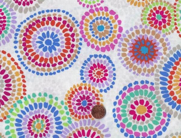 Kaffe Fassett Mosaik Circles gp176 white