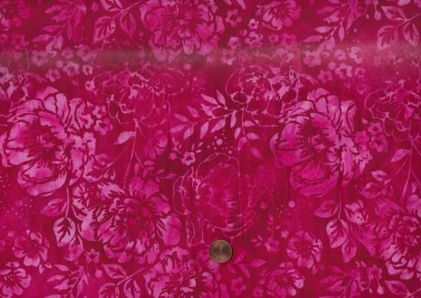 Batik Peony magnta-pink