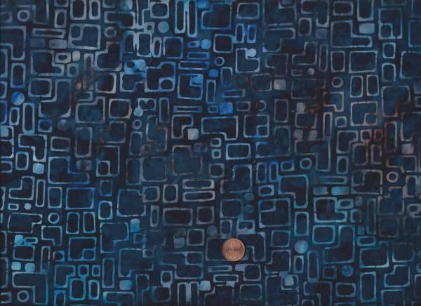 Batik Karo blau