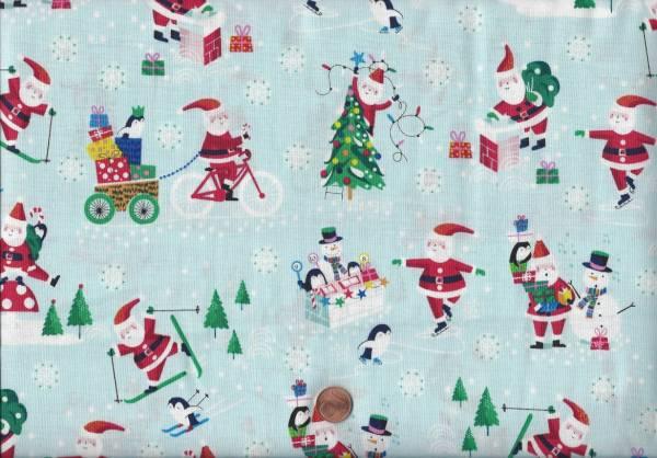 Jolly Santa scenic Weihnachtsmann türkis