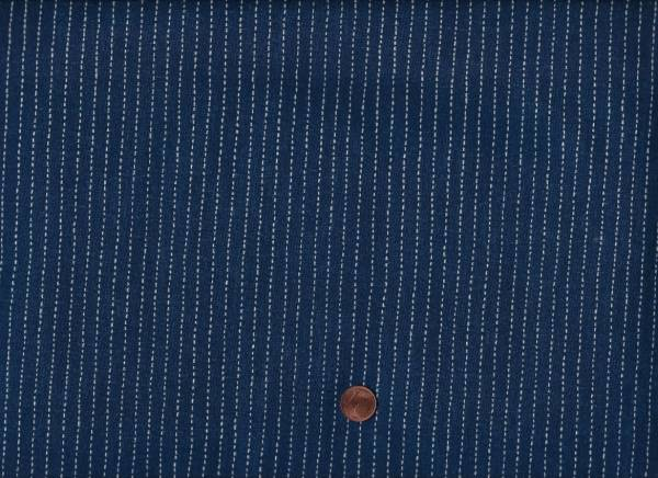 Sashiko Stitched Stripe indigo