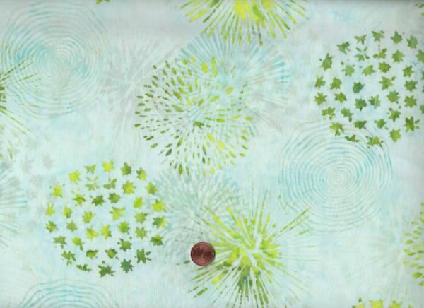 Batik Horizon Feuerwerk mint-grün