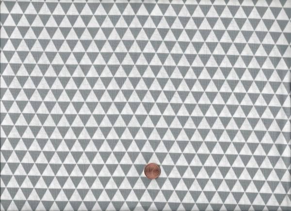 Duo Mini Dreiecke grau-weiß