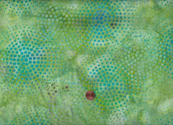 Batik Punkte grün-türkis