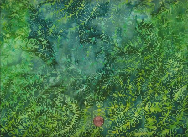 Batik kl. Zweige grün