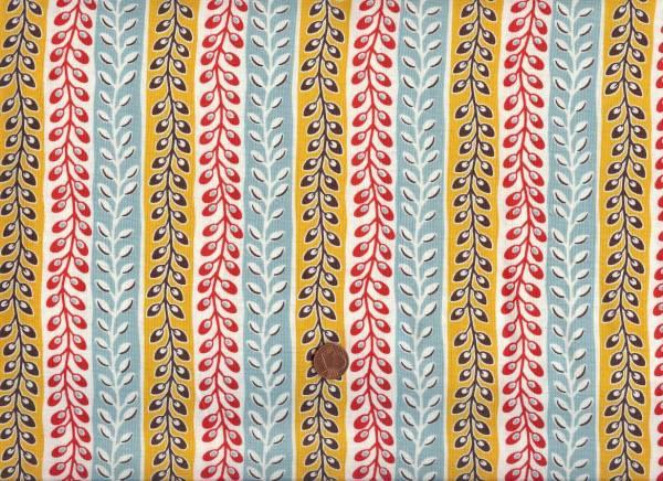 Denyse Schmidt Flea Market Fancy Seedpod Stripe turquoise