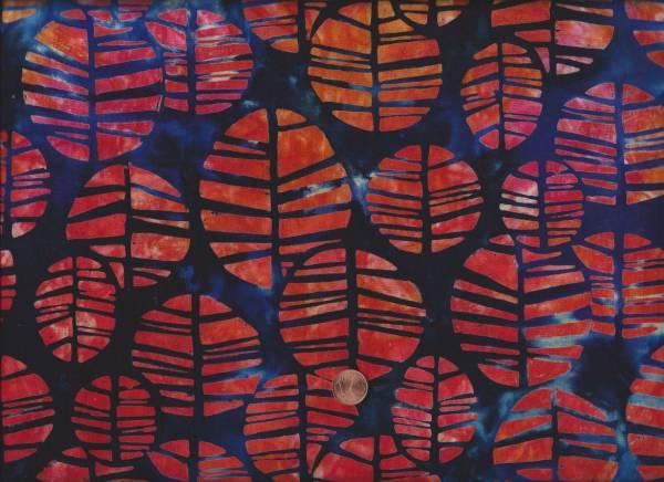 Batik Blau-orange