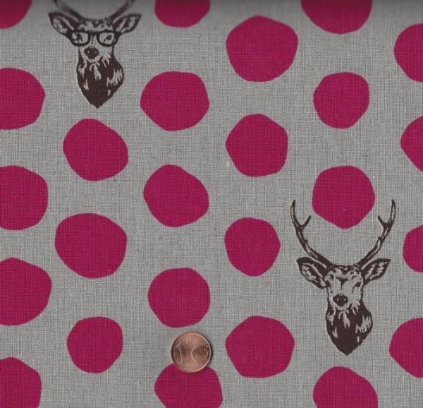 Landscape Punkte Hirsch grau-pink