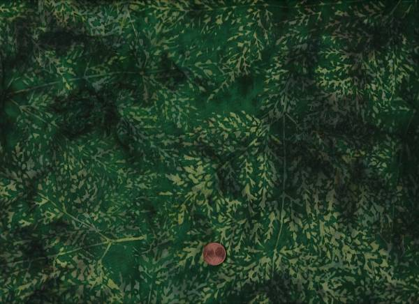Batik Bäume grün