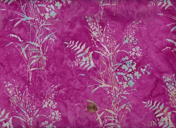 Batik Gräser pink-grau
