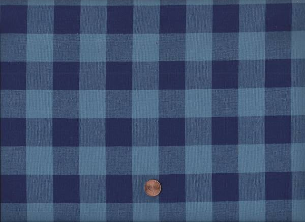"Checkers 1"" Gingham navy 120cm br."