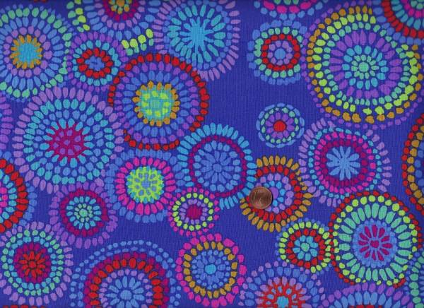 Kaffe Fassett Mosaic Circles gp176 blue