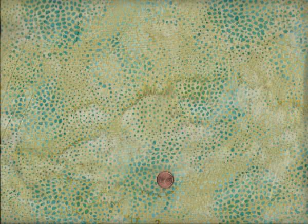 Batik Punkte grün-petrol