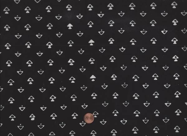 me & you Batik Dreiecke schwarz-weiß