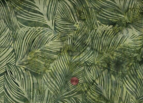 Batik Blätter d.grün
