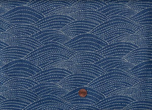 Sashiko Waves denim