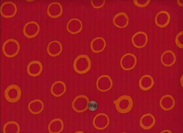 Malka Dubrawsky Batik Mark to Mark red Kreise