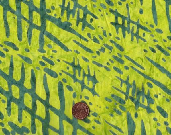 Batik Striche grün-grau