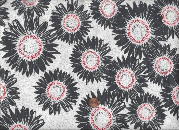Makers Home Blüten weiß-schwarz-rot