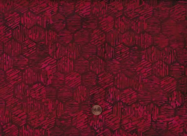 Batik Hexagone rot