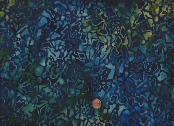 Batik Crackle blau-grün