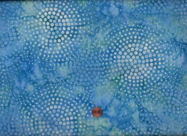 Batik Punkte h-blau-cream