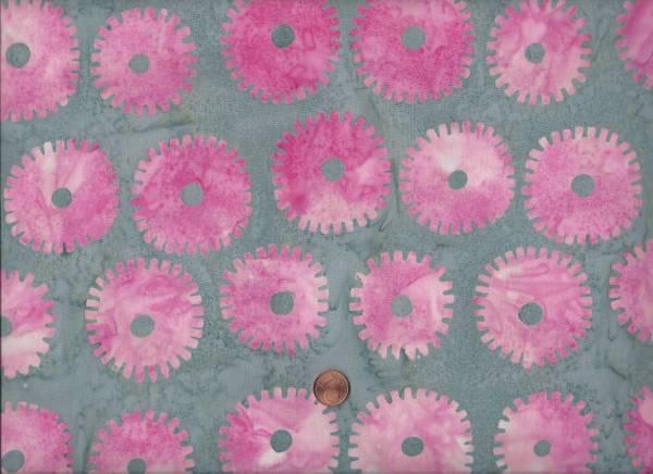 Kaffe Fassett Batik Saw Circles pink