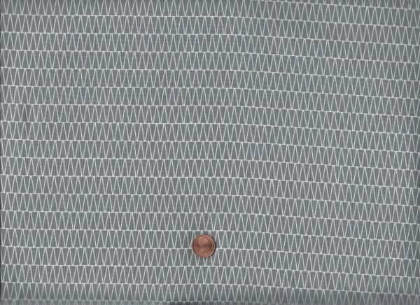 Duo Mini Chevron grau-weiß