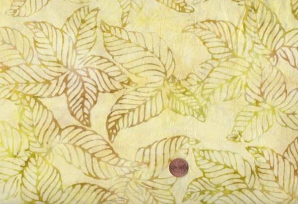 Batik Blätter lindgrün
