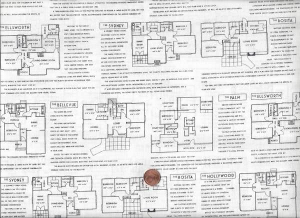 Fine print Floor plans black on white
