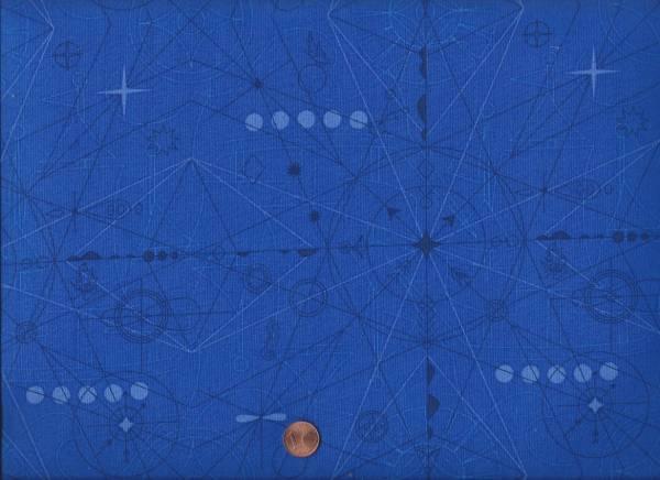 Alison Glass Sun Print Compass b lapis