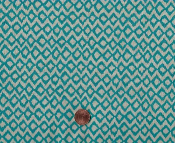 Hummingbird Garden Chevron teal
