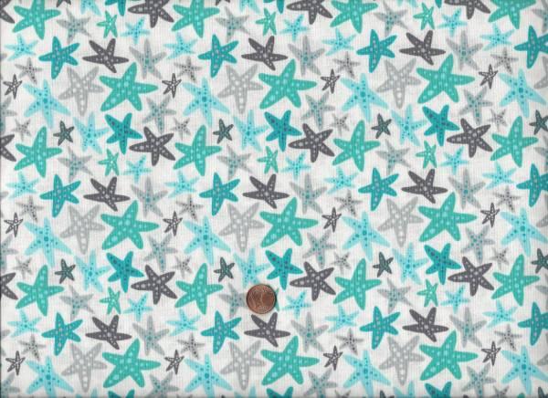 Sea Life Seesterne weiß-türkis-grau