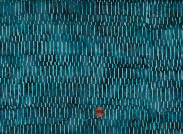 Batik Striche petrol-türkis