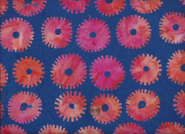 Kaffe Fassett Batik Saw Circles royal
