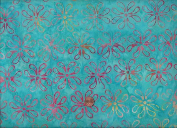 Batik Blüten twist