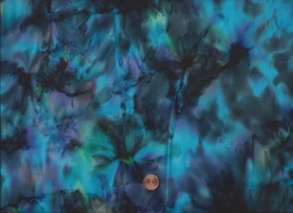 Batik Multi schwarz-lila-türkis