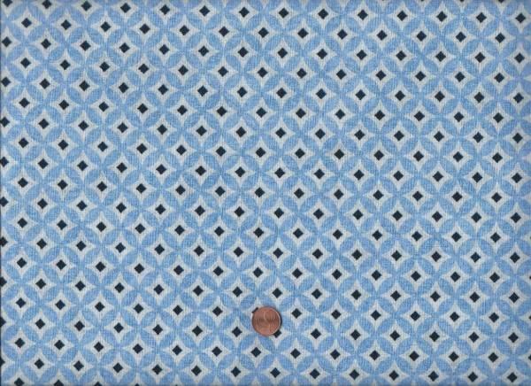 Retro Fibes Kreise Raute blau