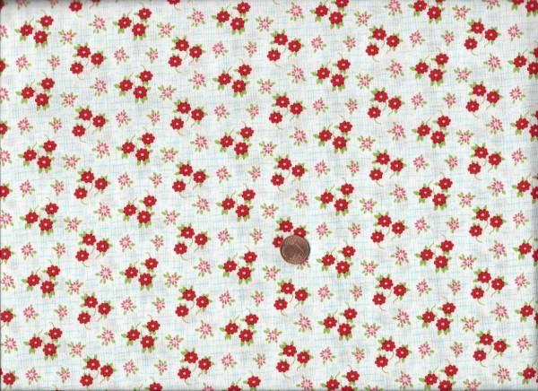 Daysail Blumen weiß-rot-türkis