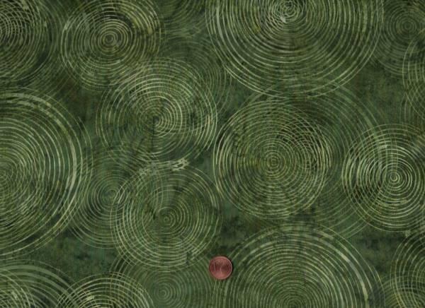 Batik Kreise grün