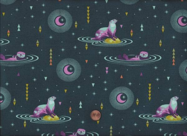 Tula Pink Spirit Animal Otter and Chill lunar glow