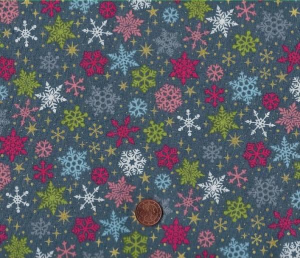 Joy Christmas Snowflakes grey