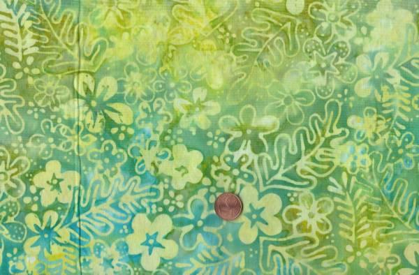 Batik Floral limone-grün