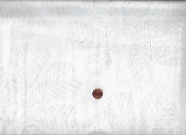 Batik Blätter weiß-grau