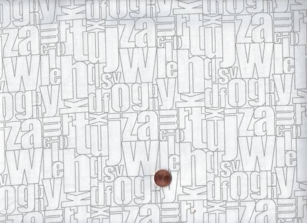 Florish Buchstaben weiß-taupe
