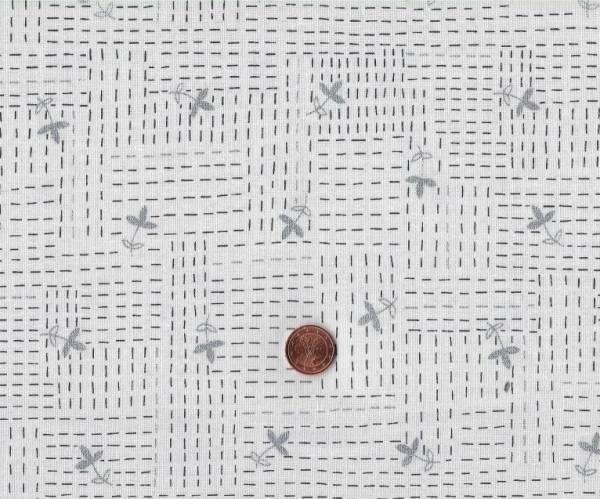 Karen Lewis Wayside blümchen weiß-grau silber