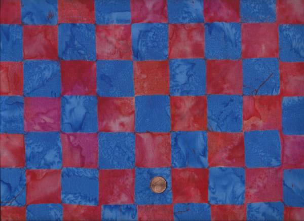 Kaffe Fassett Batik Chess red