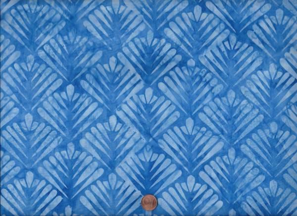 Batik Tropfen h.blau
