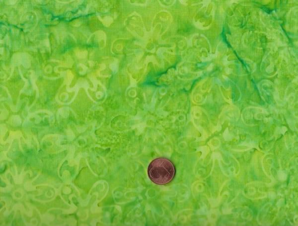 Batik Blüten maigrün